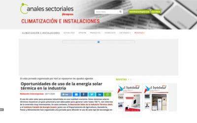 Interempresas – Oportunidades de uso de la energía solar térmica en la industria