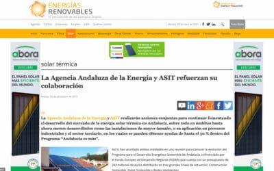Energías Renovables – La Agencia Andaluza de la Energía y ASIT refuerzan su colaboración