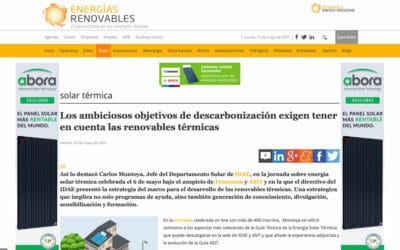 Energías Renovables – Los ambiciosos objetivos de descarbonización exigen tener en cuenta las renovables térmicas