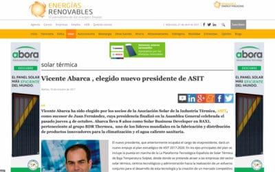 Energías Renovables – Vicente Abarca , elegido nuevo presidente de ASIT
