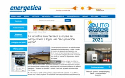 "Energética – La industria solar térmica europea se compromete a logar una ""recuperación verde"""