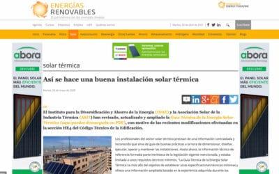 Energías Renovables – Así se hace una buena instalación solar térmica